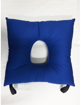 CUSHION FOR WHEELCHAIR WITH HOLE AND LACES